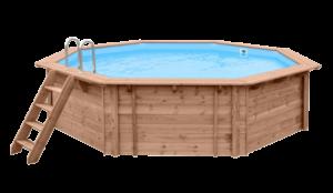 piscina in legno esagonale madelux